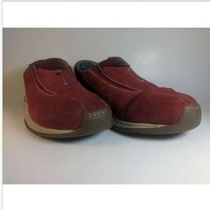Timberland Red Suede Slip on Women's Comfort shoes